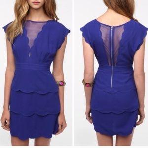 Cooperative blue scallop dress